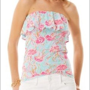 Lilly Pulitzer Strapless Tank in Jellies be Jammin